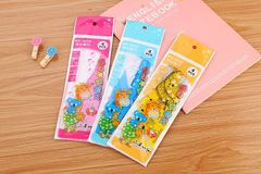 Creative / Cartoon / Ruler / Learning / Stationery / Gifts / Four-piece / Giraffe / Drawing Ruler blue 4 /sets
