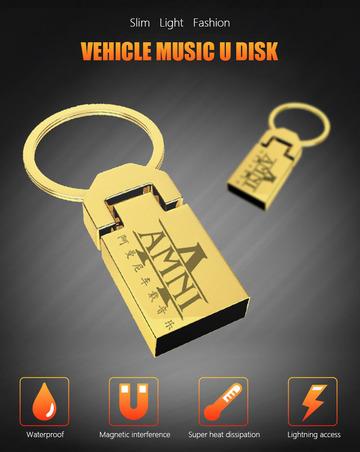 Popular waterproof shockproof car creative 16G 32G 64G lossless music  playback high speed U disk gold 16G @ Kilimall Kenya