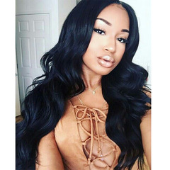 Wig Women's wigs have medium black, Big Wave  Long Hair  Curly  Hair Synthetic Headgear black size one