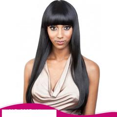 Women's wig black bangs wigs Long Hair Straight Hair Synthetic Headgear  Wigs light brown size one