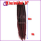 Hot Selling Kenya Women's Wigs box braid hair long braided hair braided wigs gradient wine red 24inch