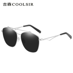 HotOne Fashion Vintage Sunglasses Women Luxury Brand Polarized Sunglasses     COOLSIR-6071 silver/grey polarized