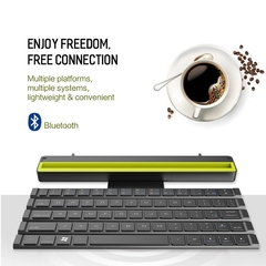 Wireless bluetooth keyboard multimeida rollable folding scissor-switch keybolard black 252x46.8x28.8mm