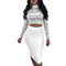 Ins pop European and African summer women's sexy sequins two-piece night shop long-sleeved dress s silvery