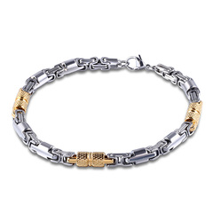 Jewellery Stainless steel bamboo chain smooth bracelet fashion accessories for men golden normal