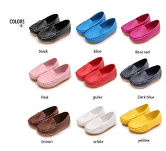 New men's and women's leisure leather light non-slippery bean children's shoes special shoes white 13cm