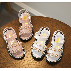 Girls 'sandals, new children's plastic sandals, girls' little girls 'shoes, Princess shoes. black Shoe length14.5cm