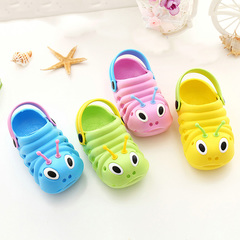 Children's cartoon slippers, caterpillars, odorless, non-skid shoes, boys and girls. Boys Shoes pink Internal length11cm