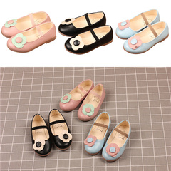 Girls 'shoes, flowers, fashion, ladies' shoes, dancing, children's performance, Princess shoes. pink internal length12.5cm