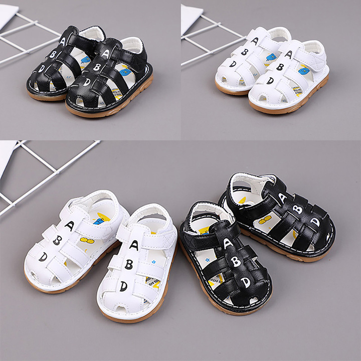 Baby male sandals, children's soft shoes, baotou beach shoes.Boys Shoes Kids, Baby, Toys white 16 yards