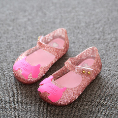 Black children's shoes hollow fruit jelly shoes fragrant shoes Girls Shoes Sandals black 27 yards