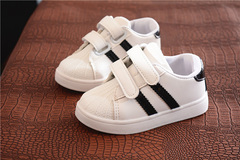 Children's board shoes new student shoes shell head sports white shoes pop boys red 21 yards