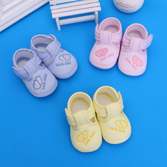 Children's shoes, baby shoes, boys 'shoes, soft soles, school shoes, non-sliding, newborn shoes. pink internal length11cm