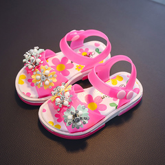 2019 Summer Girl Sandals Little Girl Princess Shoes Soft Baby Sandals ladies shoes rosemary 24 yards