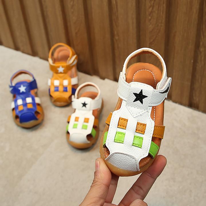 Leisure boys shoes sandals soft bottom fashion children's shoes kids toys men shoes white 21 yards