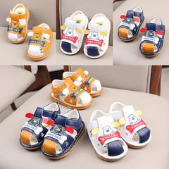 Kids cartoon children's sandals, beef tendons, soft soles, little boys 'shoes, baby sandals yellow 21 yards