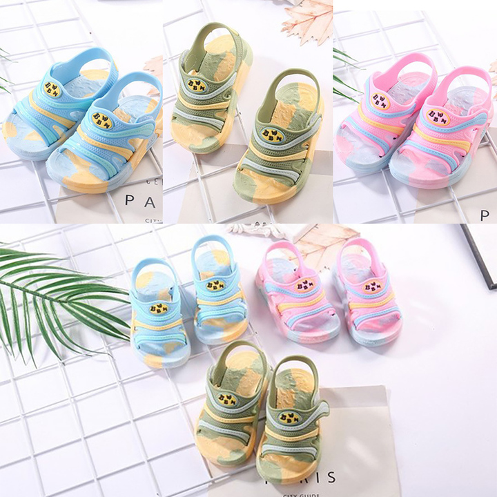 Children's sandals, children's beach shoes, boys 'and girls' soft shoes men ladies shoes women pink 18 yards
