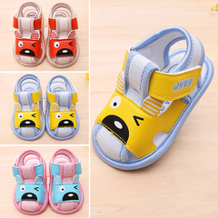 Baby soft bottom wear resistant sandals breathable sweat drain children's shoes baby shoes pink 12 yards