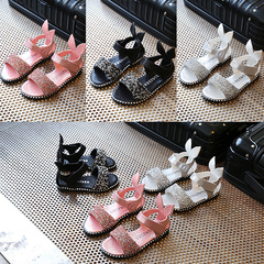 Girls sandals children cute diamond shoes pink baby sandals student sandals ladies shoes women pink 29 yards