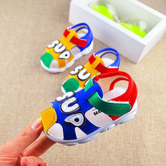 Children's shoes cute called shoe soft bottom baby baby letter baby toddler sandals ladies shoes men yellow 16 yards