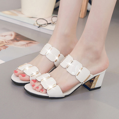 New style sandals, cool slippers, thick slippers, fashion shoes girls shoes women black 35 yards