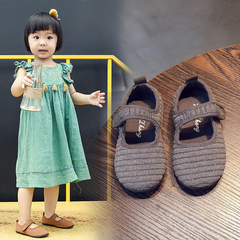 2019 New Children's Shoes Boys and Girls Baby Shoes Baby Shoes School Season Shoes gray 22 yards