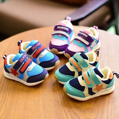 Baby sports shoes soft bottom non-skid fashion running shoes Korean version of the tideBoys Shoes green 21 yards