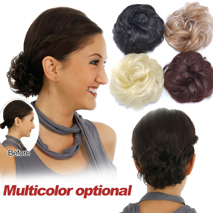 Wig hairband, leather tendons, curly hair ring, matte light,  curly hair ring, fluffy coil hair bag. Other colors nomal