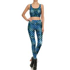 European and American fast fashion pop printing stretch tights digital printing vest fashion kit normal s