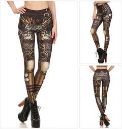 Fashion Printed Stretch Tight Pants Digital Printed Thread Pants Outer Thread Pants Leggings normal s