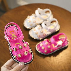 Girls 'sandals, new children's plastic sandals, girls' little girls 'shoes, Princess shoes. rosemary Shoe length20.5cm