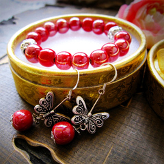 Blowout Best-selling Set Ceramic Miniature Crafts Send Box Creative Mini-Gifts Jewellery Butterfly Love normal