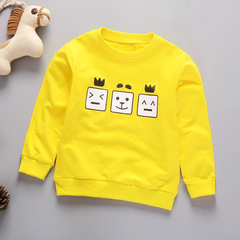Boys'Long Sleeve T-shirt, New Kids' Wear for Children and Children Baby,Toys Clothing T-shirts Polos yellow 80cm pure cotton