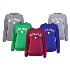 Women's Plus Velvet Fashionable Long Sleeve Casual Sweatshirt  Print Sweatshirt Clothing blue s