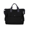 Women's canvas big bag shoulder bag Messenger bag student handbag black one size