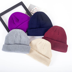 New Fashion Hat Women Man Cap Skullies Beanies Unisex Knitted Hats Beanies Simple Warm Soft Cap red one size