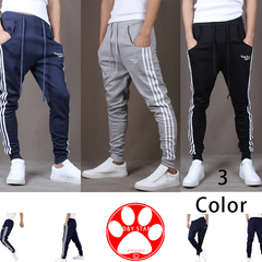 New Side Stripe High Street Sweatpants Men's Hip Hop Fitness Joggers Male Trousers Pants Sweatpant gray s