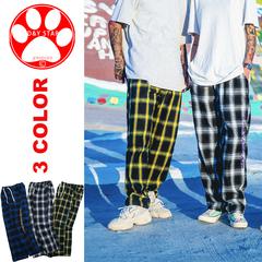 Man Hip Hop Plaid Casual Cotton Pants Streetwear Loose Cargo Sweatpants Trousers Fashion New Jogger white m