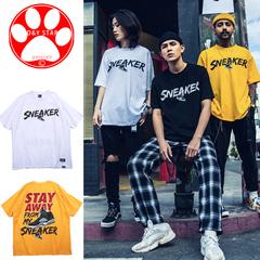 2019 New Fashion Hip Hop T Shirt Cotton Men Women PrintingCasual Streetwear Clothes Men Tee Top yellow m