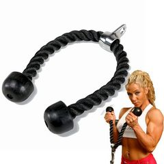 Tricep Rope Abdominal Cable Pull Down Laterals Biceps Muscle Training Fitness Body Gym Pull Rope single head 70cm