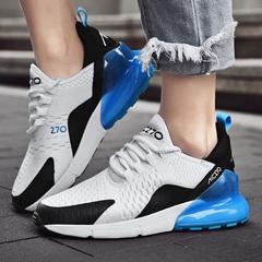 Men's Fashion Sneakers Comfortable Men Sports Shoes Wear-resisting Non-slip Breathable Mesh Light black eu41(25.5cm)