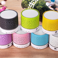 Brilliant and colorful wireless portable Bluetooth speaker   mini speaker plug-in card speaker blue circular