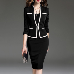 Oversize fashion generic Official suit  is perfect for official or casual/evening events s black