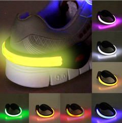 LED Luminous Lights for Shoes Clip on Outdoor Running  cycle Novelty Lighting Safety Night Warn lamp red Novelty