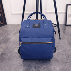 Fashion travel bag student bag large capacity shopping bag blue 26*18*41