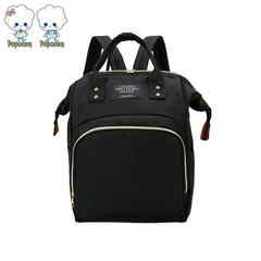 Fashion travel bag Mummy bag  large capacity diaper bag baby care package black 26*17*38cm