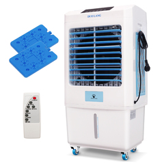 DUOLANG Portable Compact Outdoor Indoor Evaporative Air Cooler with Fan&Humidifier Remote Control blue