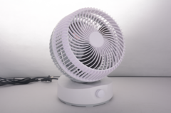 Household Quiet Air Convection Circulating Fan Air Exchange and Ventilation Remote Control Desk Fan white