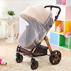 Generic  Full cover Baby strolles Kids  Stroller encryption Mosquito Nets Trolley  Safety White Diameter 145cm(Large)
