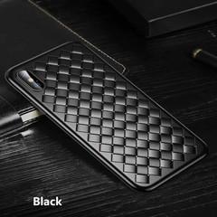 iphone x/xs/xr/xsmax/7/8/7 plus/8 plus/6/6s/6 plus/6s plus silicone anti-fall woven ultra-thin shell Black iphone 6plus/6Splus